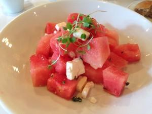 Watermelon salad from Kafe Leopold