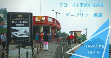 《グローバル家族の世界旅 in India》ダージリン Darjeelingの旅・後編